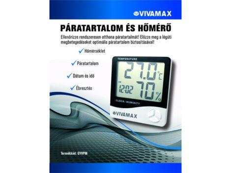 Vivamax Páratartalom- és Hőmérő - Gyvpm