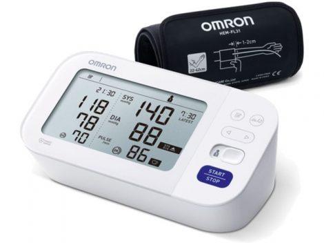 OMRON M6 Comfort Intellisense felkaros vérnyomásmérő AFib üzemmóddal