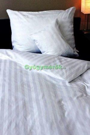 3 részes pamut,-szatén ágynemű huzat garnitúra (fehér csíkos) (10271)