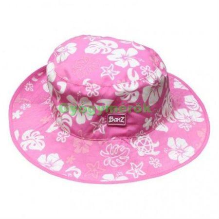 Baby Banz Kidz Banz gyermek napvédő sapka kifordítható  (Pink virágos- pink)