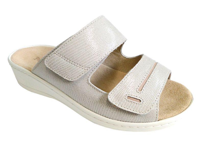 Komfort Style Női tépőzáras Bézs papucs 5020 2eea4a4ffe