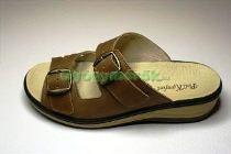 Komfort Style Női Antik Barna 2csatos papucs